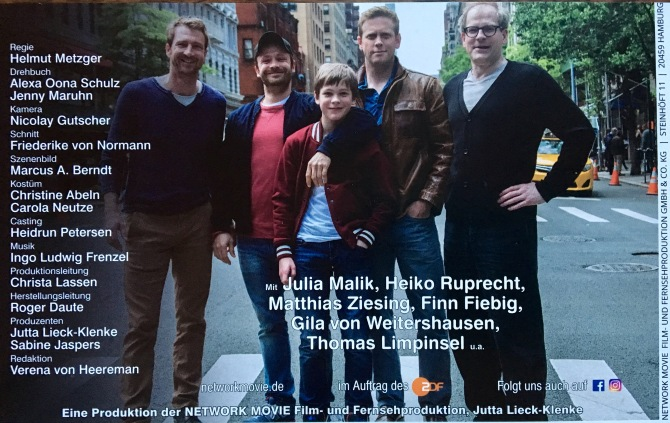 """My latest produced screenplay """"Katie Fforde: Mein Sohn und seine Väter"""" (My Son and his Fathers) on ZDF, Oktober 23 @20:15"""