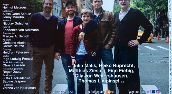 "My latest produced screenplay ""Katie Fforde: Mein Sohn und seine Väter"" (My Son and his Fathers) on ZDF, Oktober 23 @ 20:15"